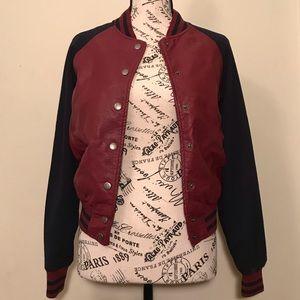 Forever 21 • Faux Leather Varsity Jacket